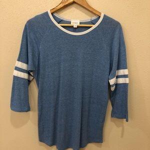 LuLaRoe 3/4 Long Sleeve Baseball Style Shirt